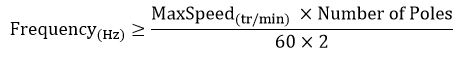 如何为高速主轴应用选择合适的电机/驱动器 - 最小频率公式 - 派克自动化EME