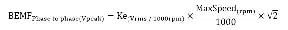 如何为高速主轴应用选择合适的电机/驱动器 -  BEMF公式 - 派克自动化EME